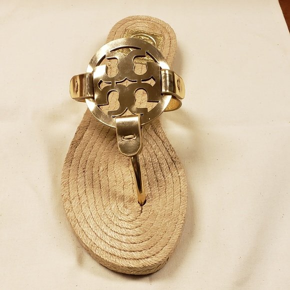 52c1beccd500 Tory Burch Miller Leather Espadrille Gold